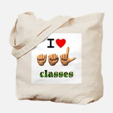 I Love ASL Classes Tote Bag