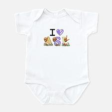 I Love ASL & Spring Flowers Infant Bodysuit