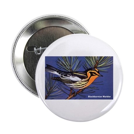 "Blackburnian Warbler Bird 2.25"" Button (10 pack)"