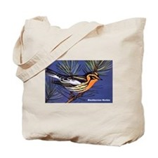 Blackburnian Warbler Bird Tote Bag