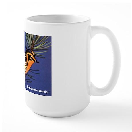 Blackburnian Warbler Bird Large Mug