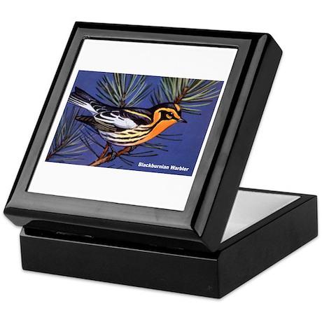 Blackburnian Warbler Bird Keepsake Box