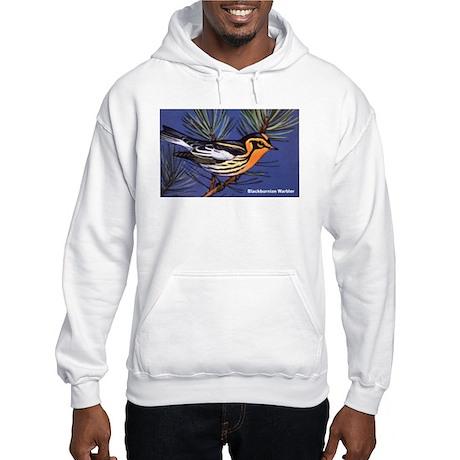 Blackburnian Warbler Bird (Front) Hooded Sweatshir