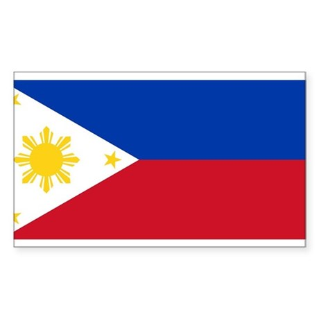 Philippines Flag Rectangle Sticker