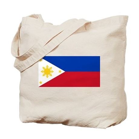 Philippines Flag Tote Bag