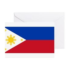 Philippines Flag Greeting Cards (Pk of 10)