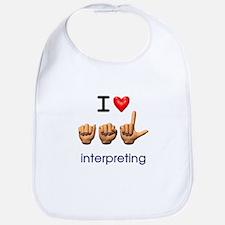 I Love ASL Interpreting Bib