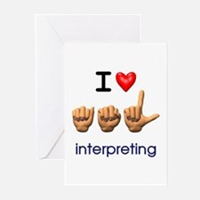 I Love ASL Interpreting Greeting Cards (Package of