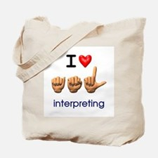 I Love ASL Interpreting Tote Bag
