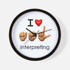 I Love ASL Interpreting Wall Clock