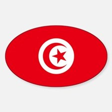 Tunisia Flag Oval Decal