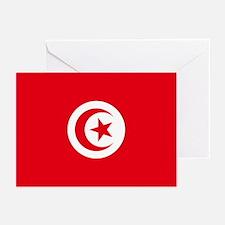 Tunisia Flag Greeting Cards (Pk of 10)
