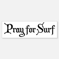Pray for Surf Car Car Sticker