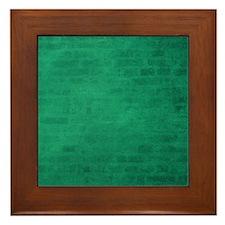Green brick texture Framed Tile