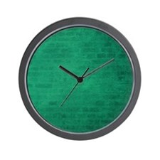 Green brick texture Wall Clock