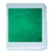 Green brick texture baby blanket