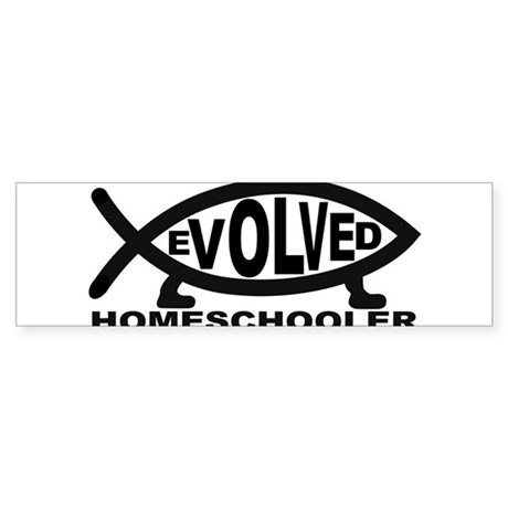 Evolved Homeschooler Bumper Sticker