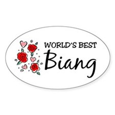 WB Mom [Indonesian] Oval Decal