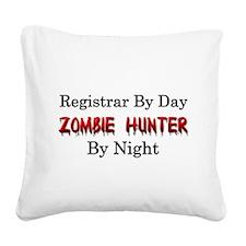 Registrar/Zombie Hunter Square Canvas Pillow