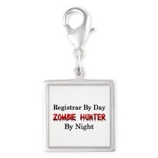 Registrar/Zombie Hunter Silver Square Charm