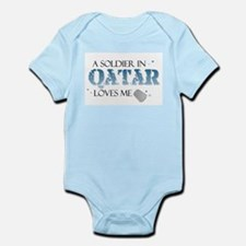 A Soldier in Qatar Loves me Infant Bodysuit