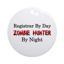Registrar/Zombie Hunter Ornament (Round)