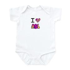 I Love ASL - Purple Yellow Infant Bodysuit