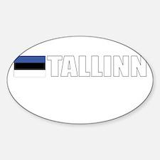 Tallinn, Estonia Oval Decal