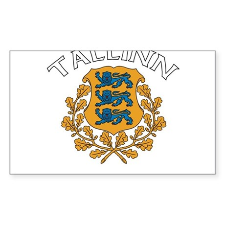 Tallinn, Estonia Rectangle Sticker
