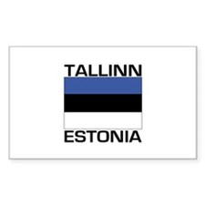 Tallinn, Estonia Rectangle Decal