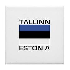 Tallinn, Estonia Tile Coaster