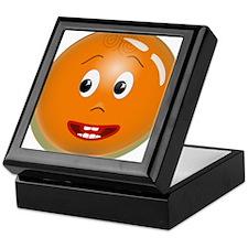Orange Smiley Keepsake Box