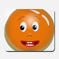 Orange Smiley Mousepad