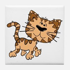 Tiger Cat Tile Coaster