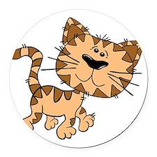 Tiger Cat Round Car Magnet