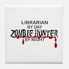 Zombie Hunter - Librarian Tile Coaster