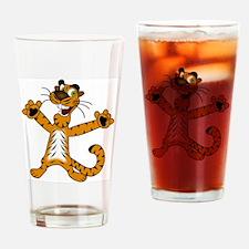 Tiger Cat Drinking Glass