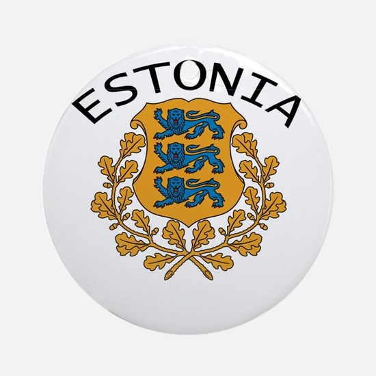 Estonia Ornament (Round)