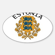Estonia Oval Decal