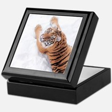 Snow Tiger Keepsake Box