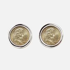 Illinois Centennial Coin Cufflinks