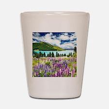 New Zealand Landscape Shot Glass