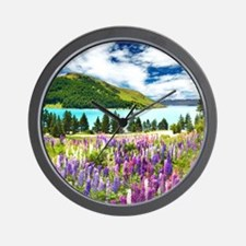 New Zealand Landscape Wall Clock