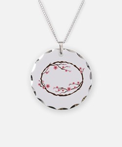 Cherry Blossom Flowers Wreath Necklace