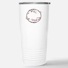 Cherry Blossom Flowers Wreath Travel Mug