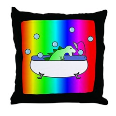 DINOSHOWER4 Throw Pillow