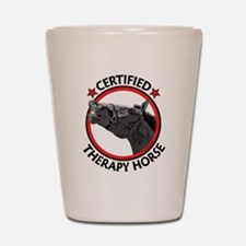 therapy horse Shot Glass