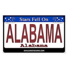 Alabama License Plate Rectangle Decal