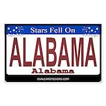 Alabama License Plate Rectangle Sticker