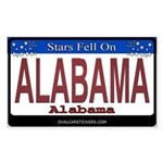 Alabama License Plate Rectangle Sticker
